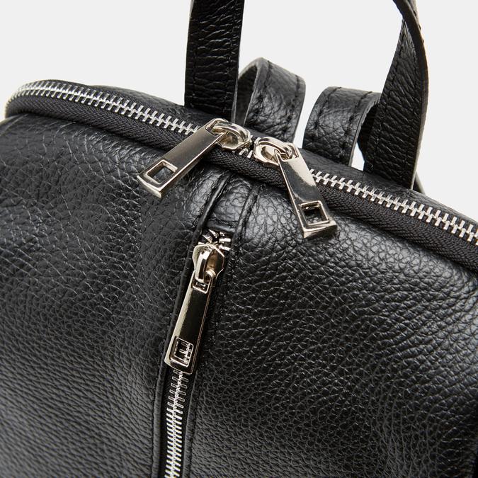 Sac à dos en cuir bata, Noir, 964-6358 - 26