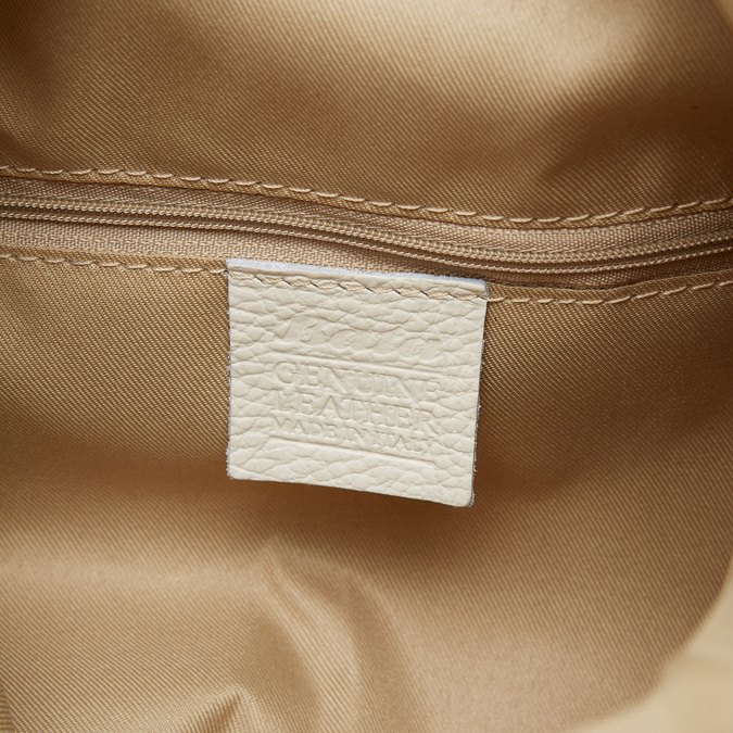 Cabas en cuir bata, Blanc, 964-1338 - 17