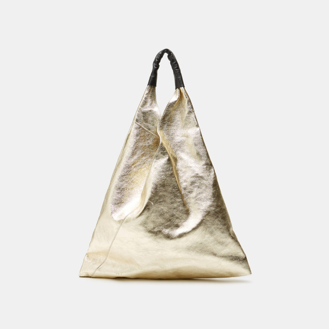 Sac hobo en cuir bata, Or, 964-8355 - 13