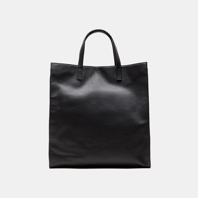 Cabas en cuir bata, Noir, 964-6211 - 13