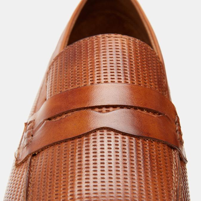 Mocassins homme en cuir bata, Brun, 814-3166 - 26
