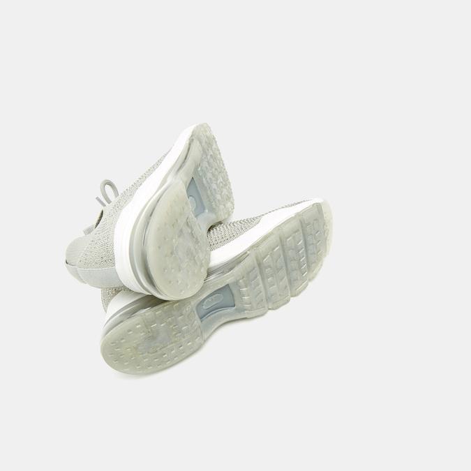 Baskets Knit femme bata, Gris, 549-2759 - 17