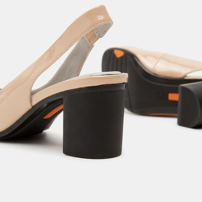 Sandales à talons ouverts et bout arrondi flexible, Rouge, 621-5241 - 15