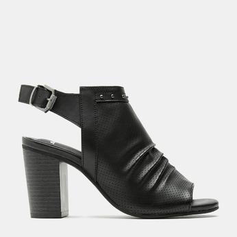 Sandales à dessus perforé bata, Noir, 761-6267 - 13