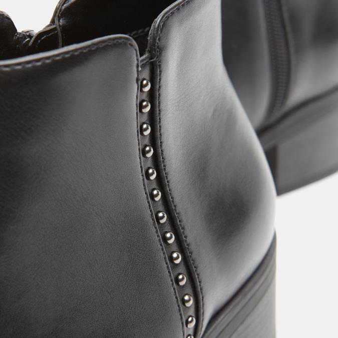 Bottines en cuir Chelsea bata, Noir, 691-6147 - 16