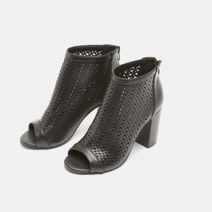 Sandales à dessus perforé bata, Noir, 721-6269 - 26