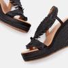 Sandales compensées bata, Noir, 769-6777 - 19