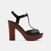 Sandales à talon large et à plateforme bata, Noir, 761-6881 - 13