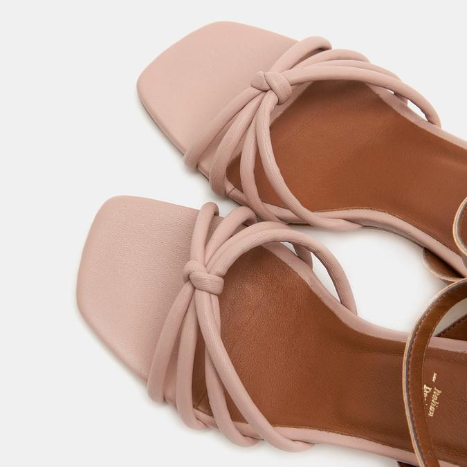 Sandales à demi-talon et à bride autour de la cheville bata, Rouge, 761-5884 - 19