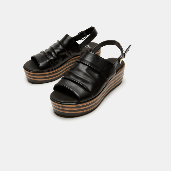 Sandales à plateforme bata, Noir, 761-6887 - 16