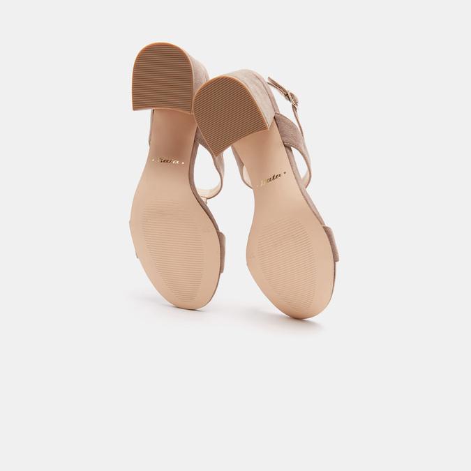 Sandales à talon large bata, Jaune, 769-8856 - 17