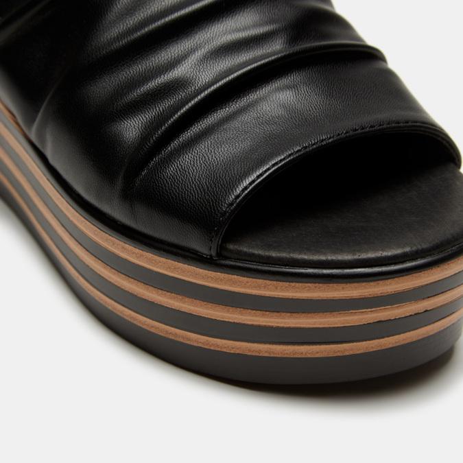 Sandales à plateforme bata, Noir, 761-6887 - 26