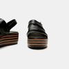 Sandales à plateforme bata, Noir, 761-6887 - 17