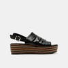 Sandales à plateforme bata, Noir, 761-6887 - 13