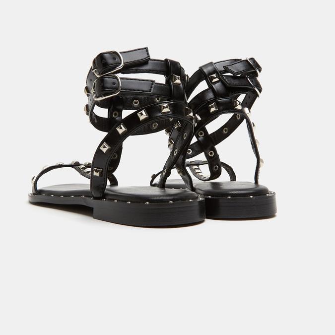 Sandales cloutées bata, Noir, 561-6838 - 17
