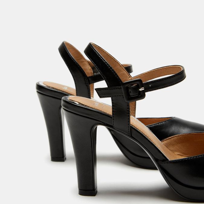 Escarpins à bride bata, Noir, 721-6429 - 15