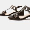 Sandales à talon large bata, Noir, 669-6215 - 15