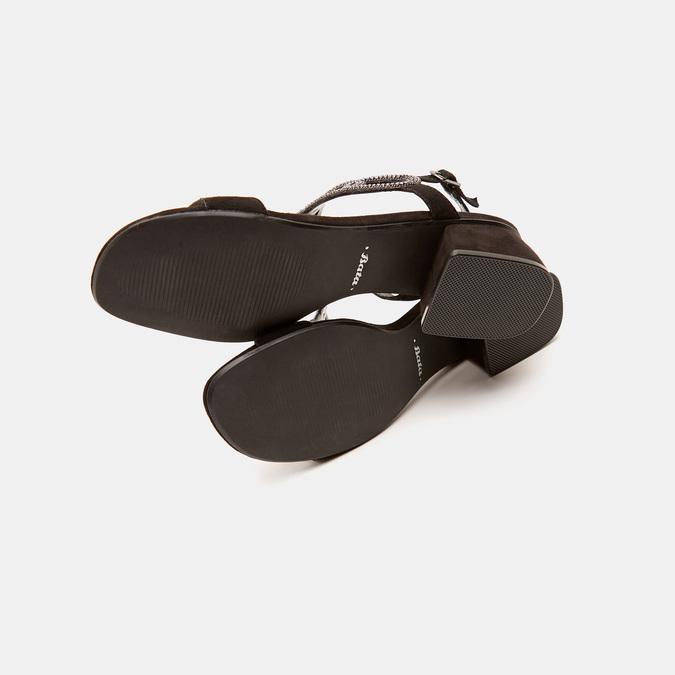 Sandales à talon large bata, Noir, 669-6215 - 19