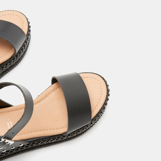 Sandales femme à plateforme bata, Noir, 761-6943 - 15