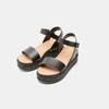 Sandales femme à plateforme bata, Noir, 761-6943 - 19