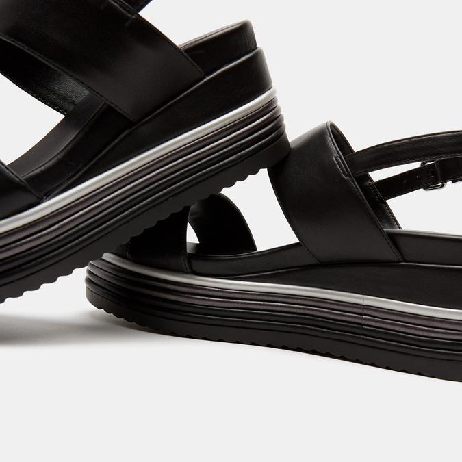 Sandales à plateforme bata, Noir, 761-6885 - 15