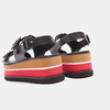 Sandales femme à plateforme bata, Noir, 661-6491 - 16