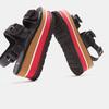 Sandales femme à plateforme bata, Noir, 661-6491 - 19