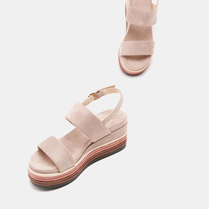 Sandales à plateforme bata, Jaune, 769-8885 - 19