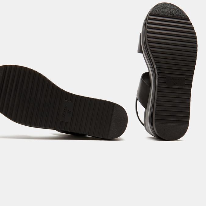 Sandales à plateforme bata, Noir, 761-6885 - 17