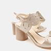 Sandales à talon large bata, bronze, 761-8860 - 26