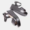 Sandales à plateforme bata, Noir, 764-6882 - 15