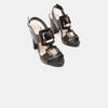 Sandales à talon large bata, Noir, 761-6849 - 16