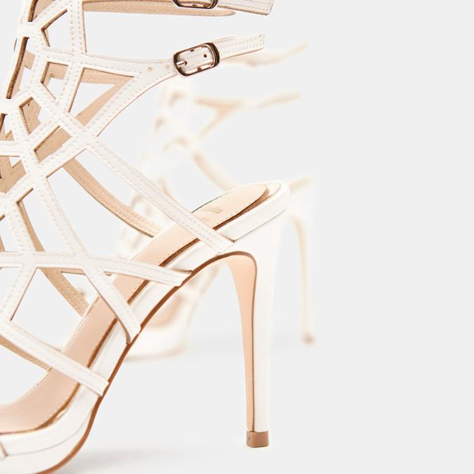 Sandales à talon aiguille bata, Blanc, 761-8880 - 15