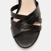 Sandales à talon large et à plateforme bata, Noir, 761-6890 - 26