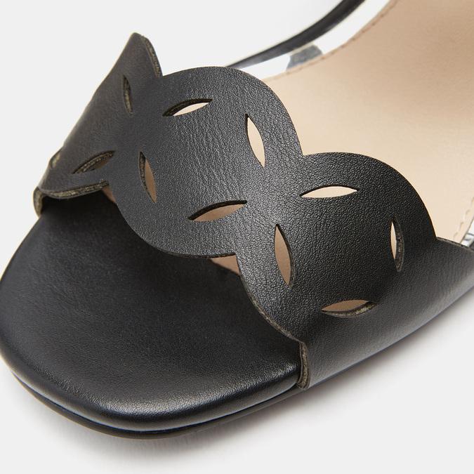 Sandales à talon large bata, Noir, 761-6860 - 16