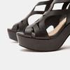 Sandales à talon large bata, Noir, 761-6850 - 17