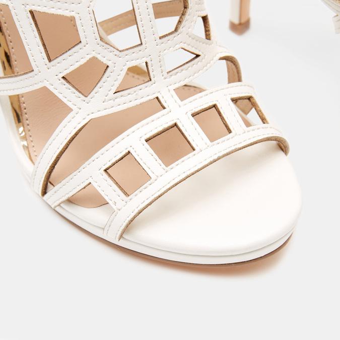 Sandales à talon aiguille bata, Blanc, 761-8880 - 26
