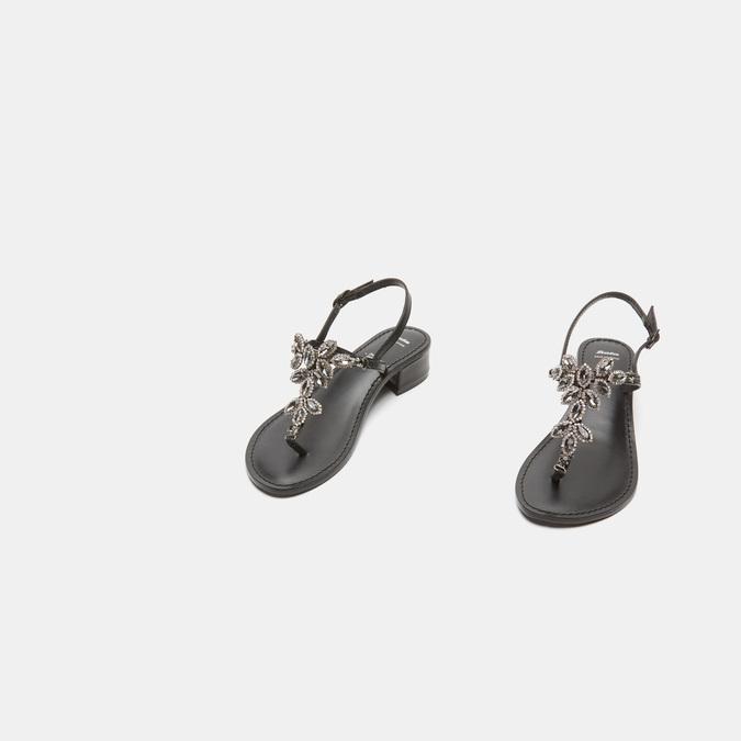Sandales à demi-talon bata, Noir, 664-6408 - 16