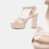Sandales à talon large bata, Rouge, 761-5874 - 19