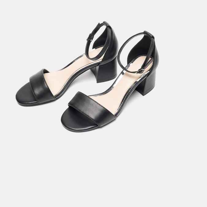 Sandales à talon large bata, Noir, 764-6862 - 26