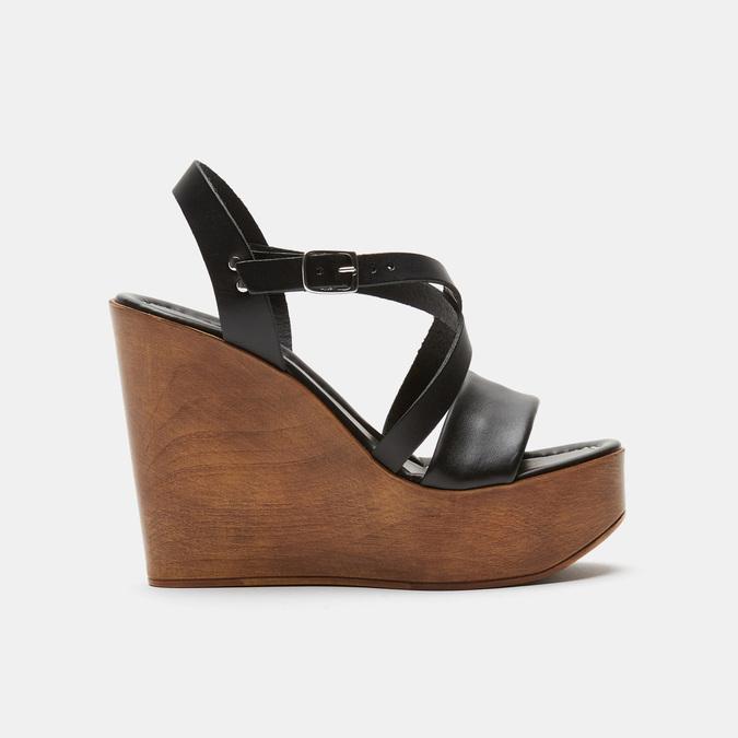 Sandales compensées bata-rl, Noir, 764-6981 - 13