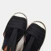 Sandales compensées bata, Noir, 769-6868 - 17