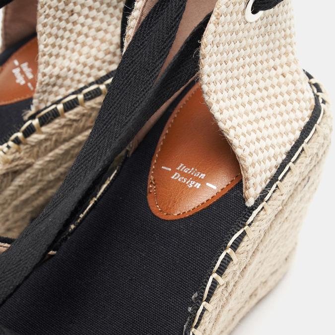 Sandales compensées bata, Noir, 769-6868 - 16