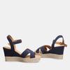 Sandales compensées bata, Bleu, 763-9963 - 26