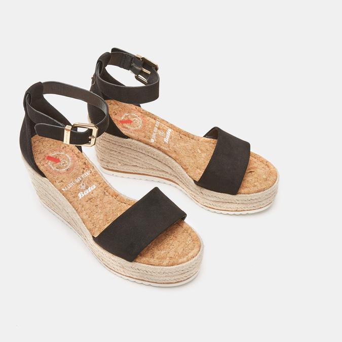 Sandales compensées bata, Noir, 769-6983 - 26