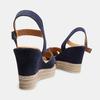 Sandales compensées bata, Bleu, 763-9963 - 16