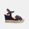 Sandales compensées bata, Bleu, 763-9963 - 13