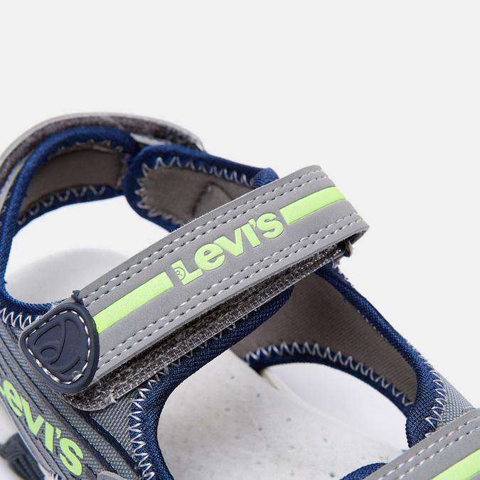Sandales garçon levis, Gris, 361-2117 - 26