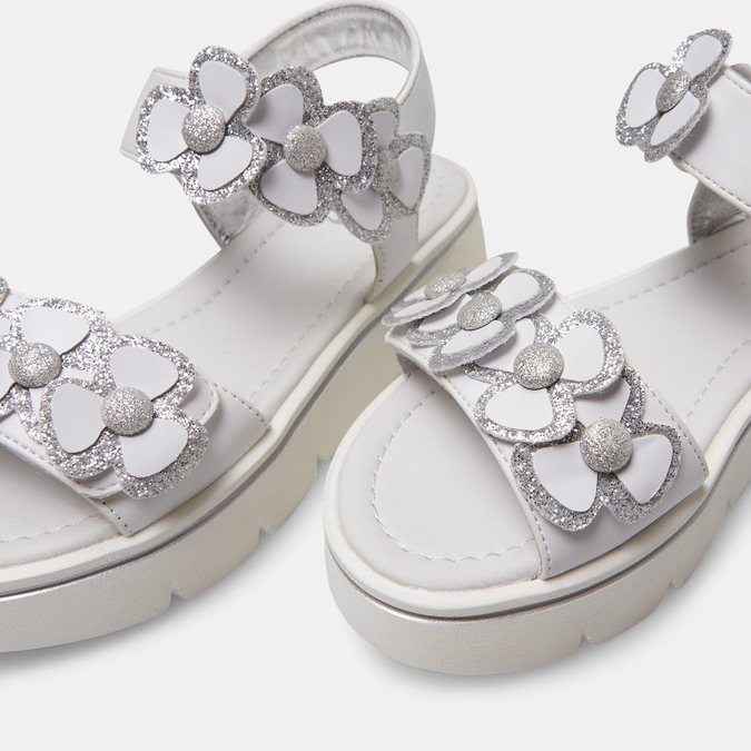 Sandales fille mini-b, Blanc, 361-1411 - 17