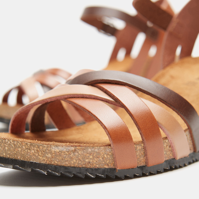 Sandales compensées weinbrenner, Brun, 764-4984 - 16